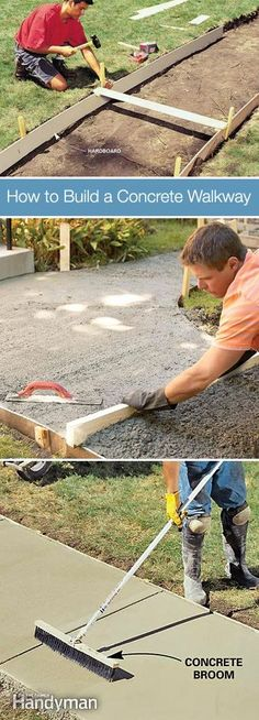 7 Classic DIY Garden Walkway Projects • With Tutorials! Including, from 'family handyman', how to build a concrete walkway.