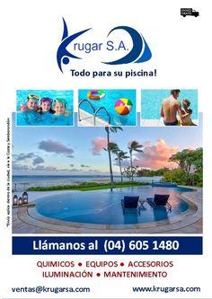 Krugar S.A. todo para su piscina!  Contamos con artículos para la construcción y el mantenimiento de piscinas y jacuzzis, somos importadores de reconocidas marcas mundiales en el mercado y distribuidores a nivel de todo el país.  Será un placer atenderlos, llámanos a nuestro número: 04 605 1480 ó vía email: info@krugarsa.com  #piscinas #guayaquil #ecuador #ecu #gye #jacuzzis #cuidatupiscina #quimicos #bombasdeagua #filtros #equipodepiscina