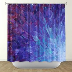 SCALES of a DIFFERENT COLOR Fine Art Painting by EbiEmporium, $89.00 deep eggplant purple violet abstract acrylic painting fine art design decorative shower bathroom modern ombre stylish home decor