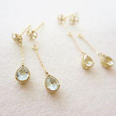 K10YG topaz pierced earrings #tocca #japan