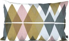 Coussin Mountain Lake / Small 60x40 cm L 60 cm / Gris, Curry, Rose - Ferm Living