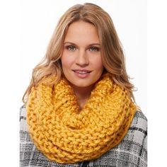 "3 skeins Mega Cowl Bernat Mega Bulky Size U.S. S (19 mm) circular knitting needle 29"" [75 cm] long or size needed to obtain gauge."