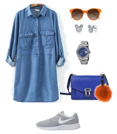 Контраст by irina-o on Polyvore featuring polyvore, fashion, style, NIKE, Proenza Schouler, Rolex, Disney, Guild Prime, EyeBuyDirect.com and clothing