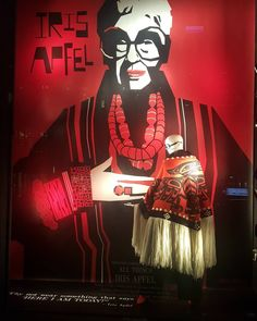 "BERGDORF GOODMAN, New York, Fifth Avenue, New York, USA, ""Why not wear something that says ""Here I Am Today"", for Iris Apfel, photo by Randy Gunderson, pinned by Ton van der Veer"