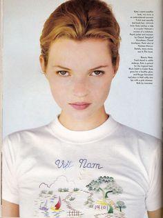 "Kate Moss by Bruce Weber for ""Good Morning, Vietnam"" Vogue US, June 1996"