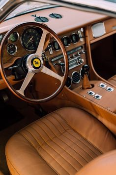 A Customized British Powers Alexander Kraft's 1968 Ferrari Best Car Interior, Custom Car Interior, Car Interior Design, Truck Interior, Retro Cars, Vintage Cars, Antique Cars, E30, Classic Trucks