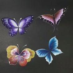 טכניקות צביעה Acrylic Painting Tips, One Stroke Painting, Tole Painting, Fabric Painting, Painting & Drawing, Painting Lessons, Painting Techniques, One Stroke Nails, Butterfly Drawing