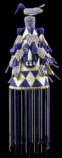 Yoruba beaded crown from Nigeria.