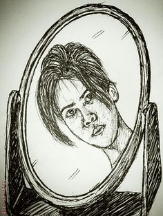 Ink Sketch | Self Portrait version 01 (2005)
