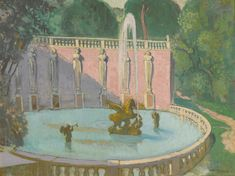 Maurice Denis 1870 - 1943, Villa Lante, oil on board, 38.7 by 52cm., circa 1931.