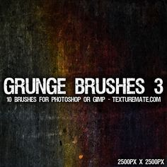 Grunge 3 Brush Pack for Photoshop or Gimp | texturemate.com - Free Textures, Brushes, Patterns, and Design Articles!