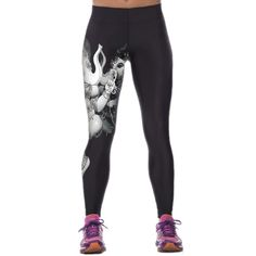 Women Lady Black Purple Sports Gym Athletic Yoga Jogging High Waist Tight Pants   eBay