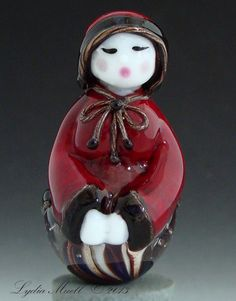 Peppermint Snow Diva Lampwork Bead Special Just WANT WANT WANT