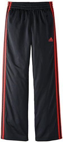 adidas Big Boys' Designator Pant, Black/Scarlet, Small -- Click image to review more details.