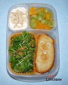 Simple Sandwich & Salad #Easylunchboxes Bento