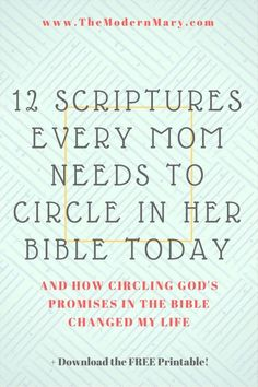 As a mom, when you circle scriptures in your Bible you are crying out to God for your kids.The Bible is full of promises-circle scriptures to remind you.