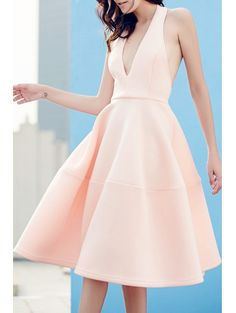 SHARE & Get it FREE | Open Back Solid Color Plunging Neck Sleeveless DressFor Fashion Lovers only:80,000+ Items • New Arrivals Daily Join Zaful: Get YOUR $50 NOW!