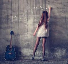 Senior music Pic. Replace the guitar with a piano or harp....