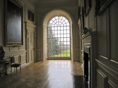 Easton Neston  |  A recent photograph of the cross hall gallery on the main upper floor.  It may be reasonable to assume that Hawksmoor designed this space in detail.