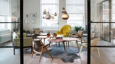 Danish furniture brand Carl Hansen & Son has relocated its showroom in Manhattan, filling a loft-style space near Gramercy Park.