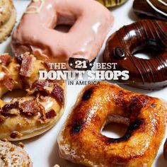 The 21 best donut shops in America.. Keeping this handy for any and all road trips!