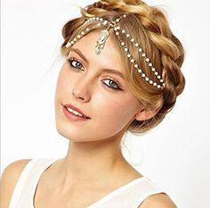 1PC VINTAGE DECO 20s FLAPPER IVORY PEARL HEADBAND GREAT GATSBY WEDDING Head Chain, http://www.amazon.com/dp/B01117RZK8/ref=cm_sw_r_pi_awdm_NhxSwb03S93XM