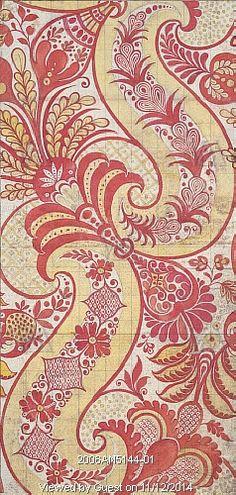 Design for silk fabric, by James Leman. Spitalfields, London, England, early 18th century