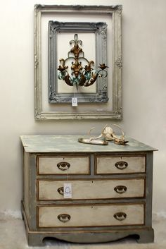 Beautiful painted chest of drawers!