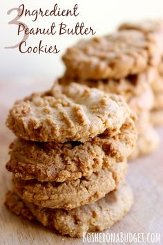 Easy Grain-Free Peanut Butter Cookies. Made with just three ingredients. So quick and easy -- and delicious. You won't believe there's no flour in these!