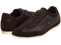 $71.99  Lacoste Misano 11 Dark Brown - 6pm.com Классические спортивные мужские туфли Lacoste на шнурках. Гладкая кожа и нубук коричневого цвета, резиновая подошва. Внутренняя часть: текстиль. Размерный ряд:44.5, 45,46,47.