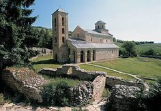The Sopoćani monastery (Serbian Cyrillic: Сопоћани), an endowment of King Stefan Uroš I of Serbia, was built in the second half of the 13th century, near the source of the Raška River in the region of Ras, the centre of the Serbian medieval state. It is a designated World Heritage Site, added in 1979 with Stari Ras