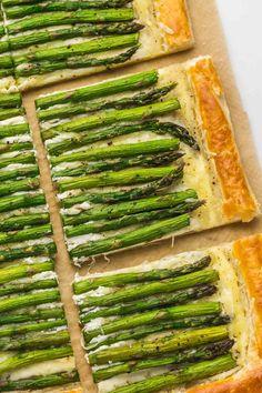 Asparagus Tart, Gruyere Cheese, Well Seasoned, Light Recipes, Roast, Brunch, Appetizers, Meals, Skinny Recipes