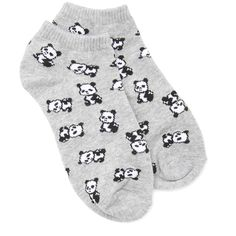 FOREVER 21 Panda Ankle Socks ($1.50) ❤ liked on Polyvore featuring intimates, hosiery, socks, socks/tights, patterned hosiery, ankle socks, print socks, tennis socks and forever 21 socks