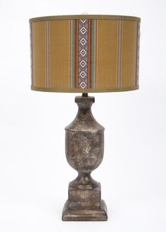 """Ceramic 31"""" H Table Lamp with Drum Shade"""