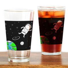 Space Walk Drinking Glass> Home & Travel> Big Phil Drinking Glass, Pint Glass, Beer, Space, Tableware, Travel, Root Beer, Floor Space, Tumbler