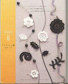 Цветочные мотивы крючком. Японский журнал со схемами (14) (562x700, 327Kb)