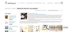 GALERÍA ARTINPOCKET Lola Kabuki #love #art #watercolor #paintings #illustration