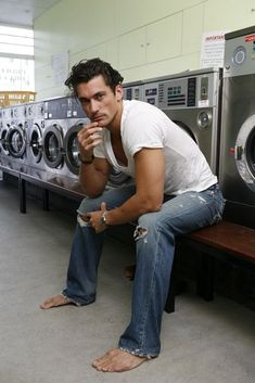 David Gandy love a guy in jeans and barefoot