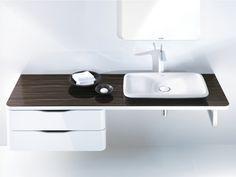 Mobile lavabo sospeso Collezione PuraVida by DURAVIT Italia | design Phoenix Design #Napoli #Pozzuoli #Marano #madeinitaly #caiazzocentroceramiche #prezzofelice