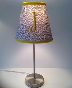 Lamp shades in lighting etsy home living lamps pinterest jordan monogrammed lamp shade gray medallions fabric yellow accent mozeypictures Image collections