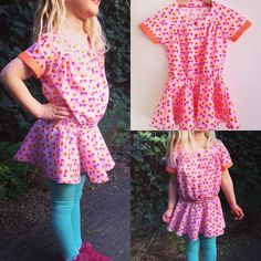 We're in love with the Top Knot tunic! Tunic Pattern, Top Knot, Knots, Peplum, Rompers, Dresses, Women, Fashion, We