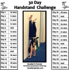 Boulder Spirals 30-Day Handstand Challenge for real people.