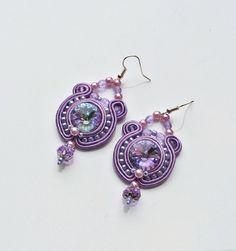 luz violeta lila cristal pastel cuelgan perlas por AtelierMagia