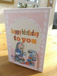 Matilda birthday card,childrens birthday card,happy birthday,Roald dahl card Sending Hugs, Roald Dahl, Birthday Greeting Cards, Matilda, Christmas Cards, Happy Birthday, Age, Children, Handmade