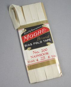 Vintage 1950's Bias Fold Tape  Ivory  6 yards by thevintagemode