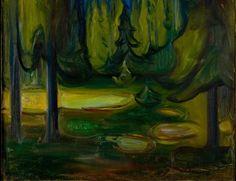 "Edvard Munch: ""Dark Spruce Forest"" (detail), 1899 (The Munch Museum, Oslo)"