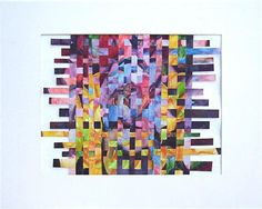 Abstract  Weaving  Collage Modern Home Decor by RickyArtGallery, $99.00