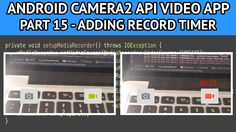 The android video app adding record timer tutorial describes how to add a timer to display the elapsed recording duration.