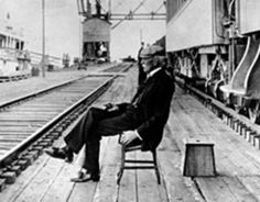 Henry Flagler.... waiting on a train.