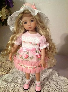 Roses and Chiffon Ensemble for Effner LITTLE DARLING DOLL